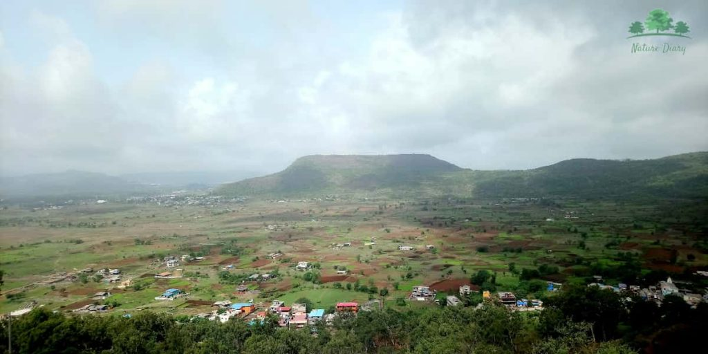 View from Lohagad fort