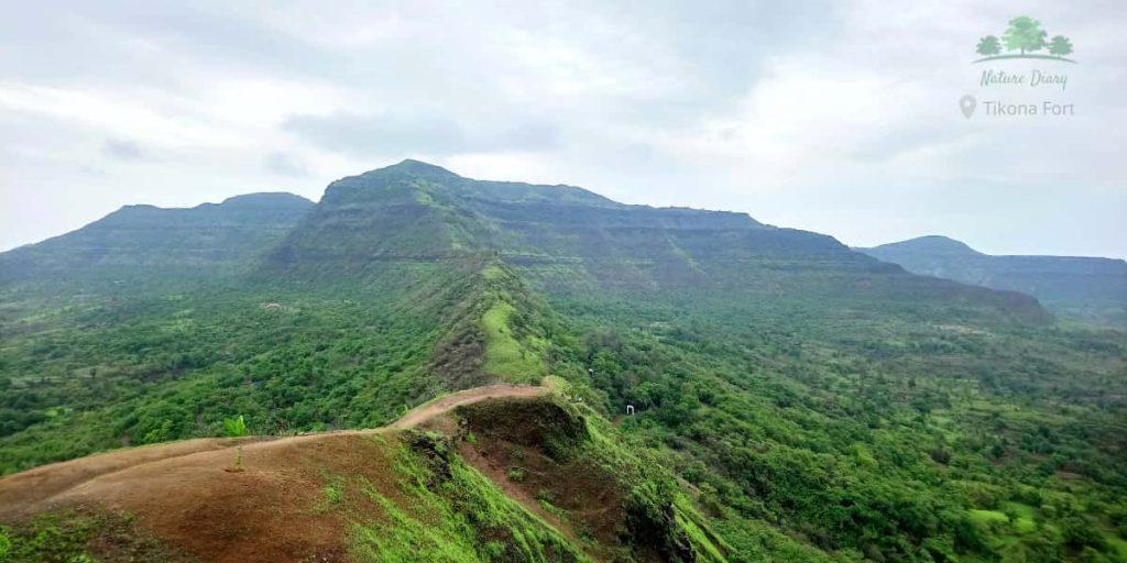 Tikona fort trekking trail
