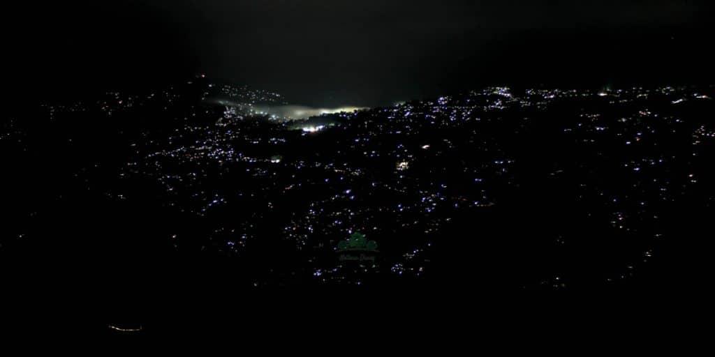 night view of kalimpong from chota mangwa
