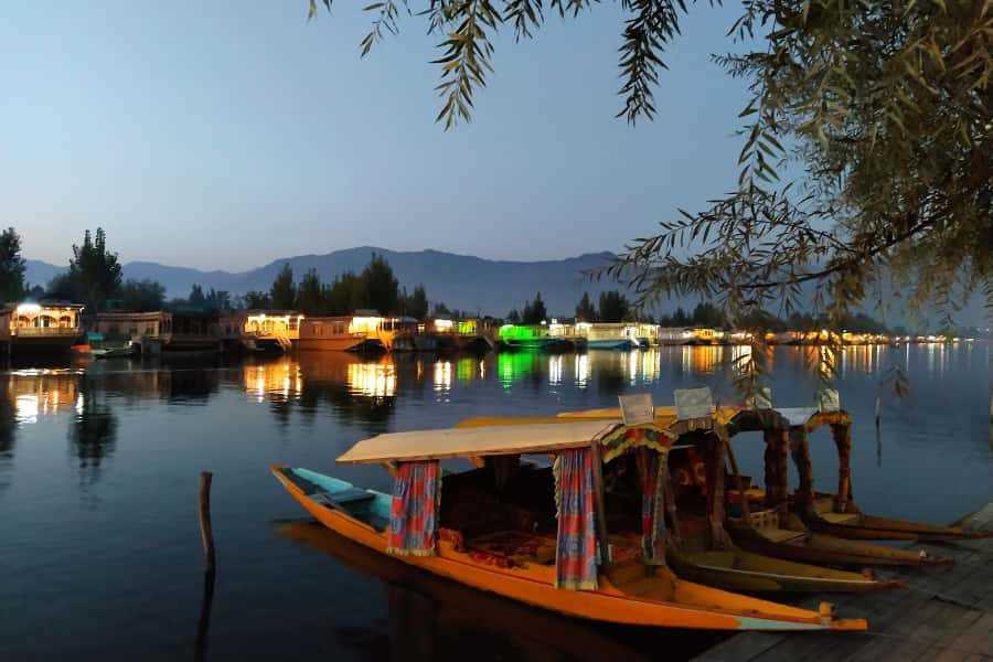 Shikara on Dal Lake, Kashmir