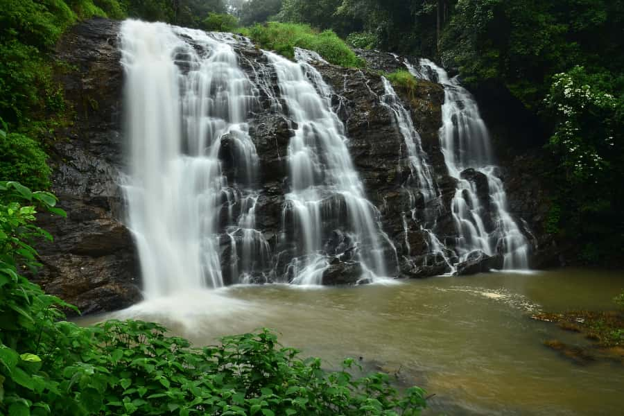 a waterfall at coorg