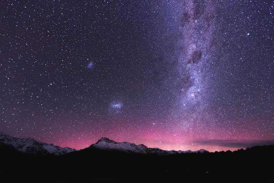 stargazing during trekking hiking and camping