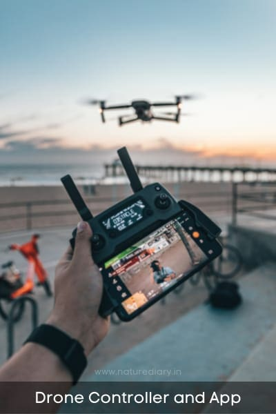 drone controller and app support